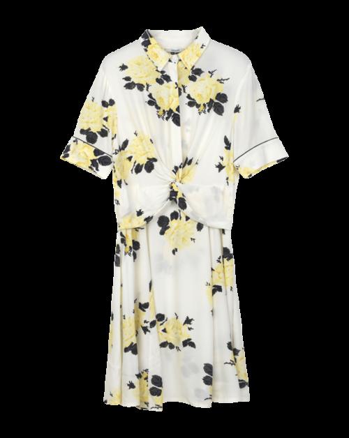 Silvery Crepe Twist Dress