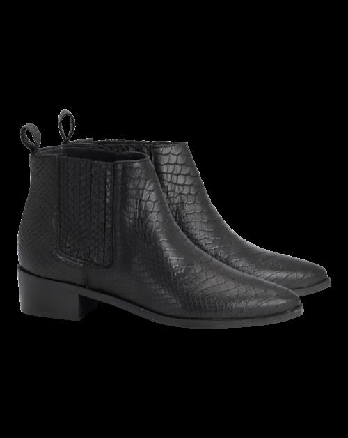 Baran Boot Croco Pointed Toe Elastic