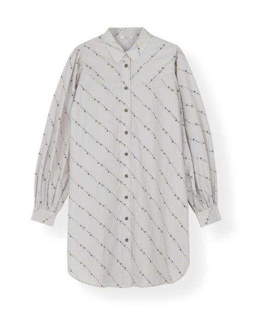 Printed Cotton Poplin Shirt Dress