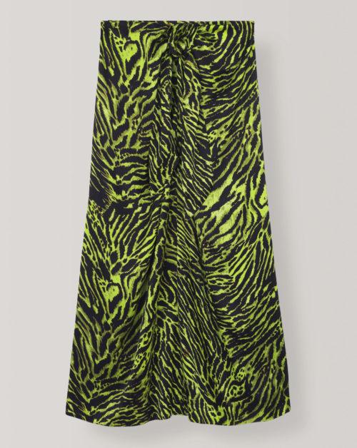 Silk Stretch Satin Skirt