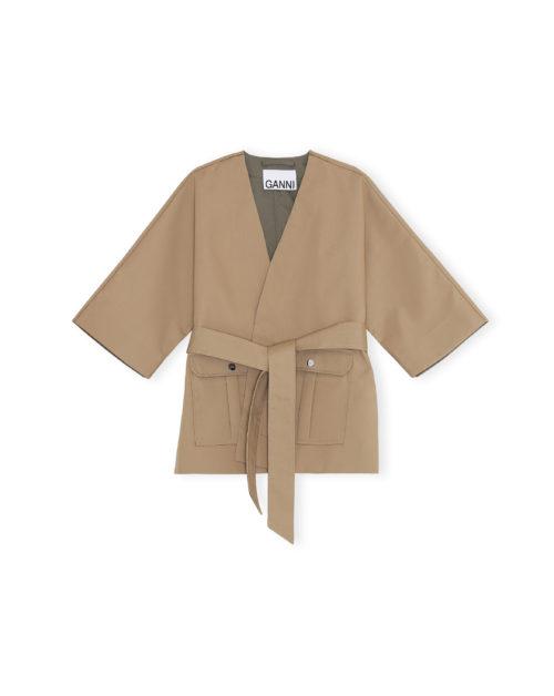 Short Kimono Coat Double Cotton